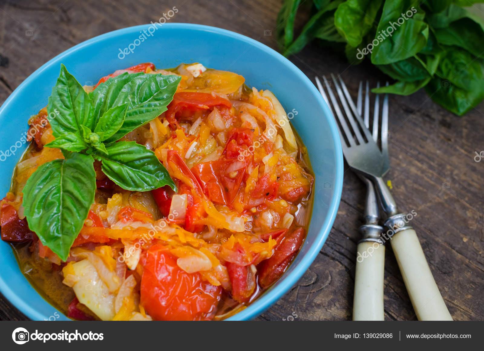 Włoski Peperonata Palona Papryka Zdjęcie Stockowe