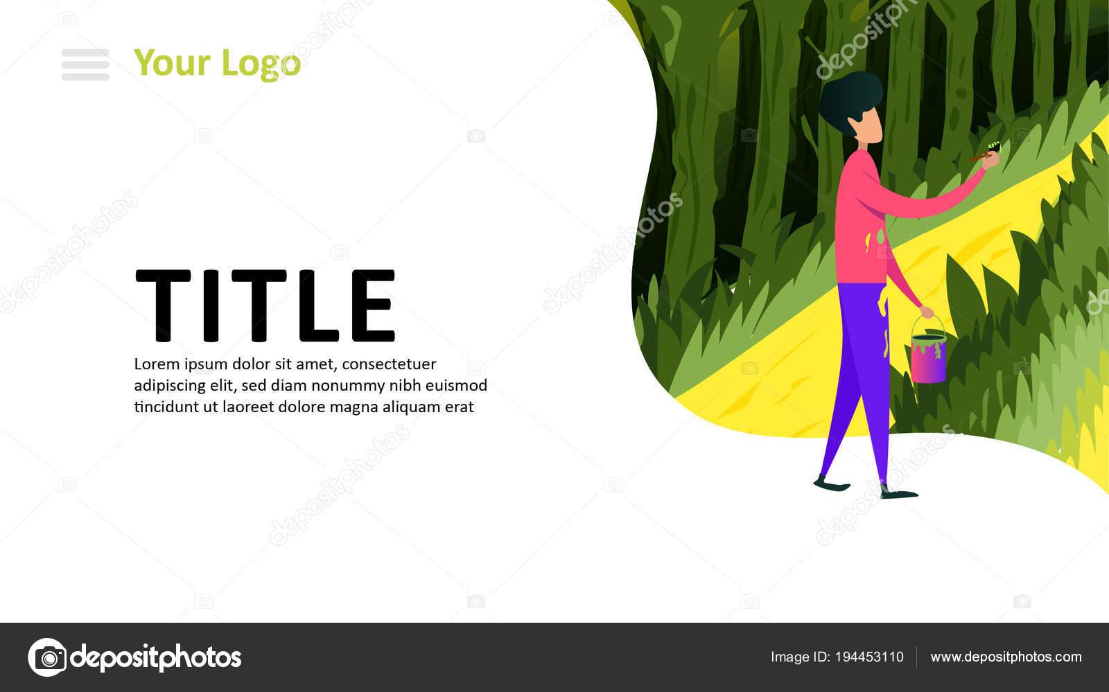 フラット レスポンシブ Web デザイン コンセプトのウェブサイト イラスト