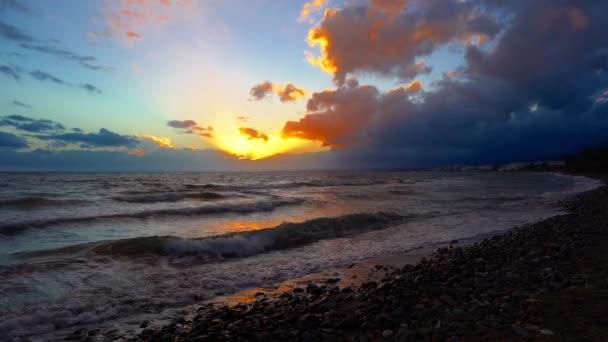 4k UHD video of Marbella Beach Sunset