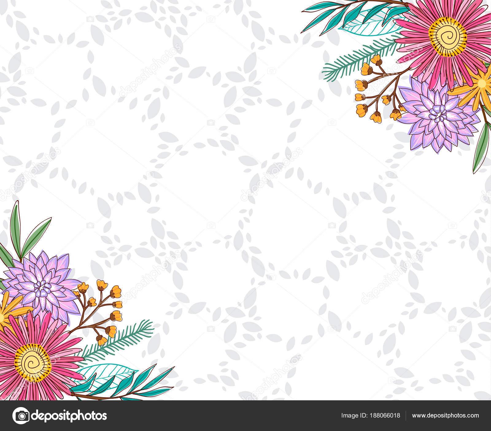 Fond Floral Dessin Floral Anniversaire Mariage Image