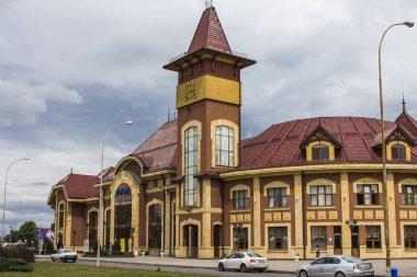 Uzhgorod içinde bina tren istasyonu. Ukrayna