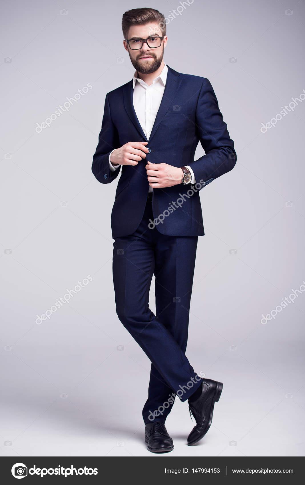 amplia selección buscar el más nuevo 100% de alta calidad Camisa blanca hombre traje | Hombre de traje azul oscuro ...