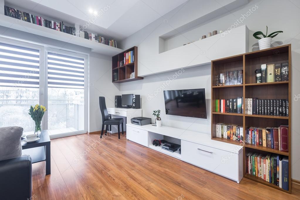 Tv woonkamer in moderne stijl u2014 stockfoto © in4mal #125585028