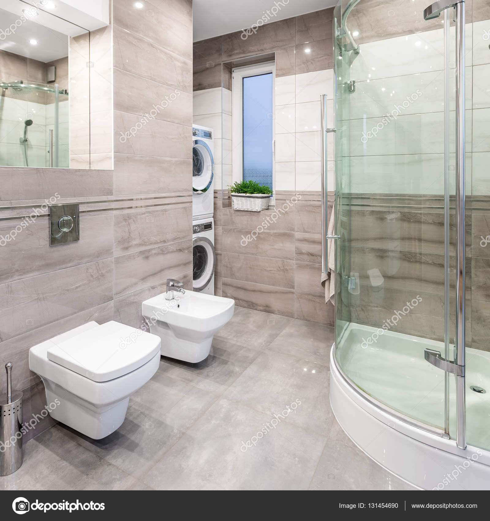 Hoogglans badkamer idee — Stockfoto © in4mal #131454690
