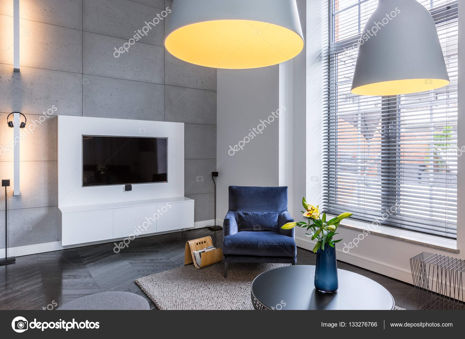 Salle TV avec fauteuil — Photographie in4mal © #133276766