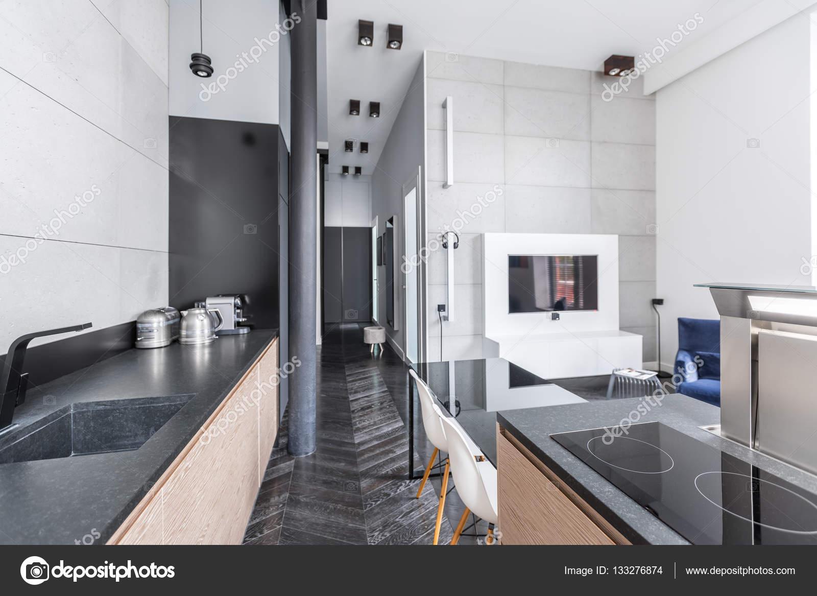 Cucina aperta sul soggiorno — Foto Stock © in4mal #133276874