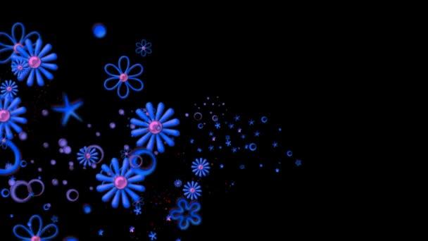 Lebegő kék virág