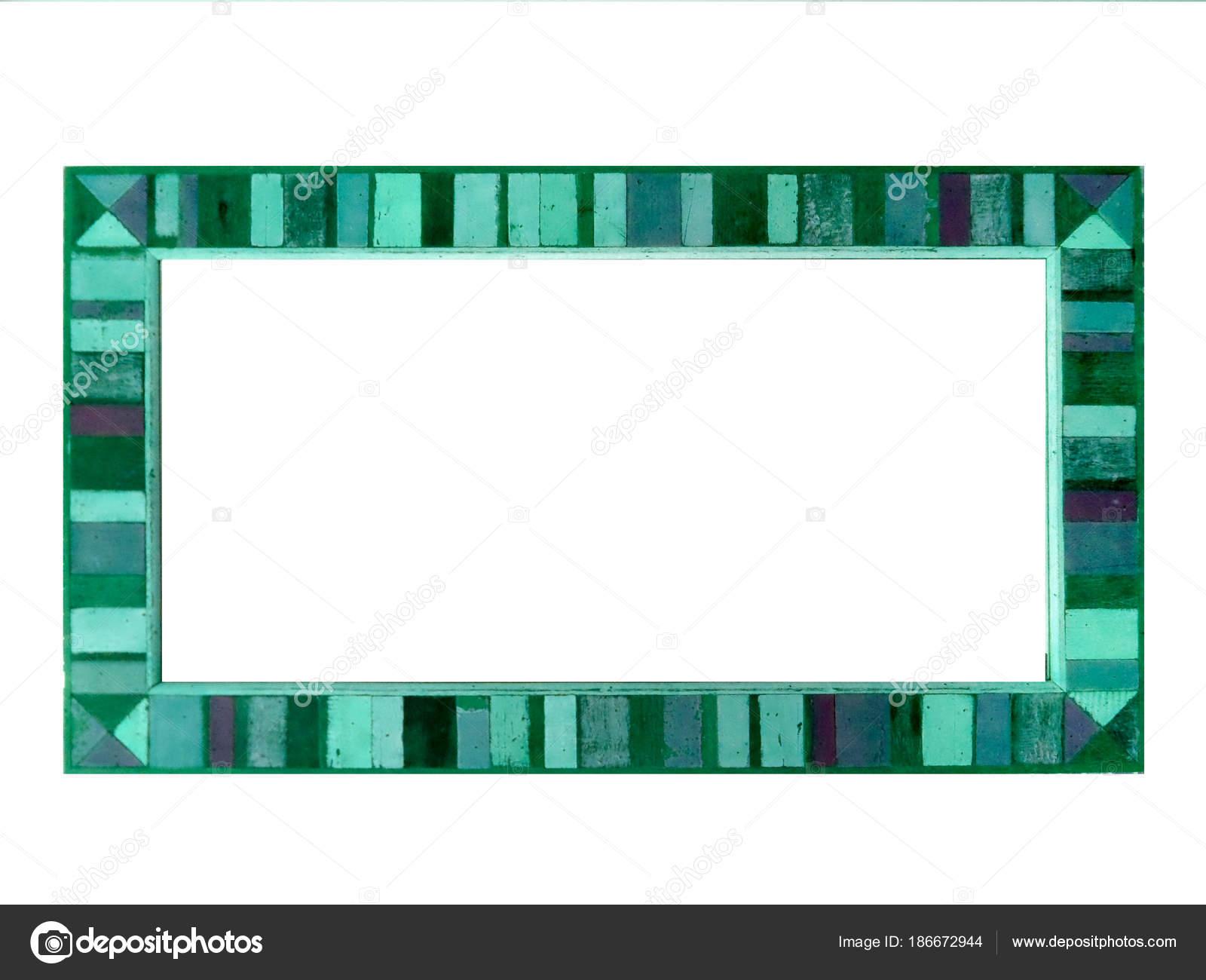Spiegel Houten Rand : Teal kleur houten spiegel vintage randstijl u stockfoto