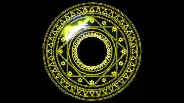 12 Tierkreis- und Zehneck-Feuerkraft überwältigend um kraftvolles magisches Gelb