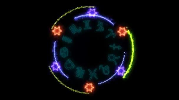 12 Tierkreis- und Zehneck-Feuerkraft überwältigend um kraftvolles magisches Blau