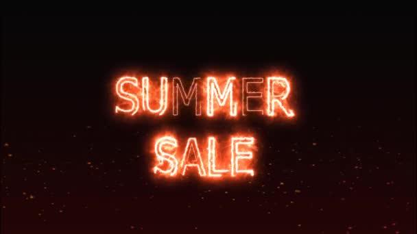 nyári eladási replikens jelölés világítás végén eltolódás és láng hatása háttér
