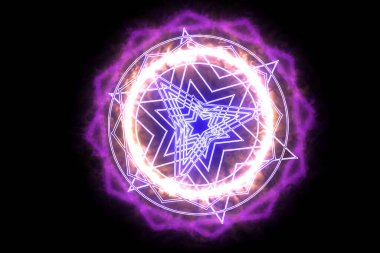 dodecagon fire around power magic weapon pink powerful
