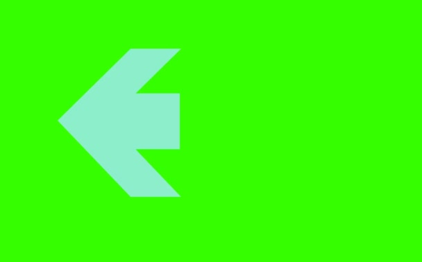 blue arrow tone sign three step blink and faded on green screen
