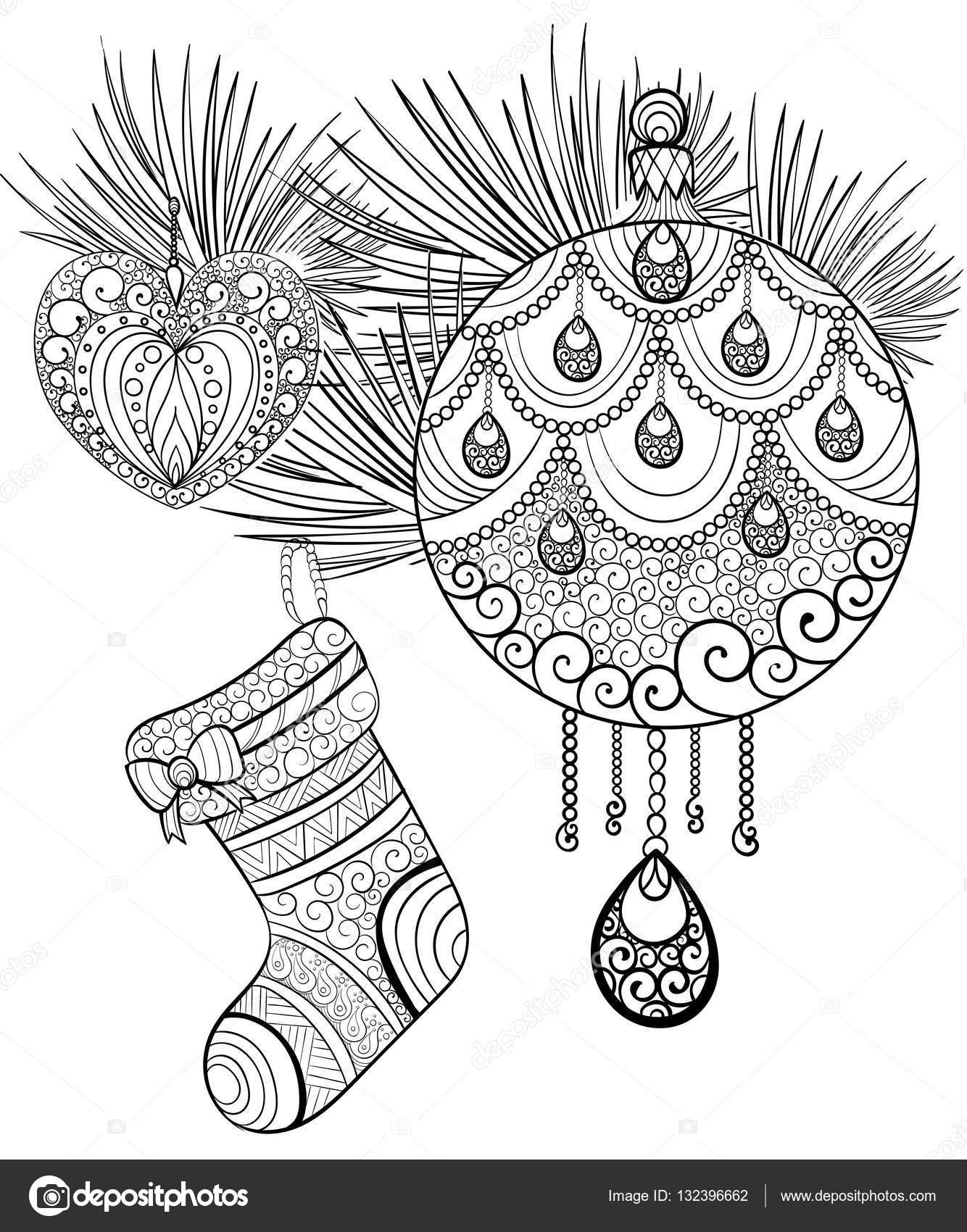 Elle çizilmiş Mürekkep Desen Boyama Kitabı Için Yetişkin Neşeli