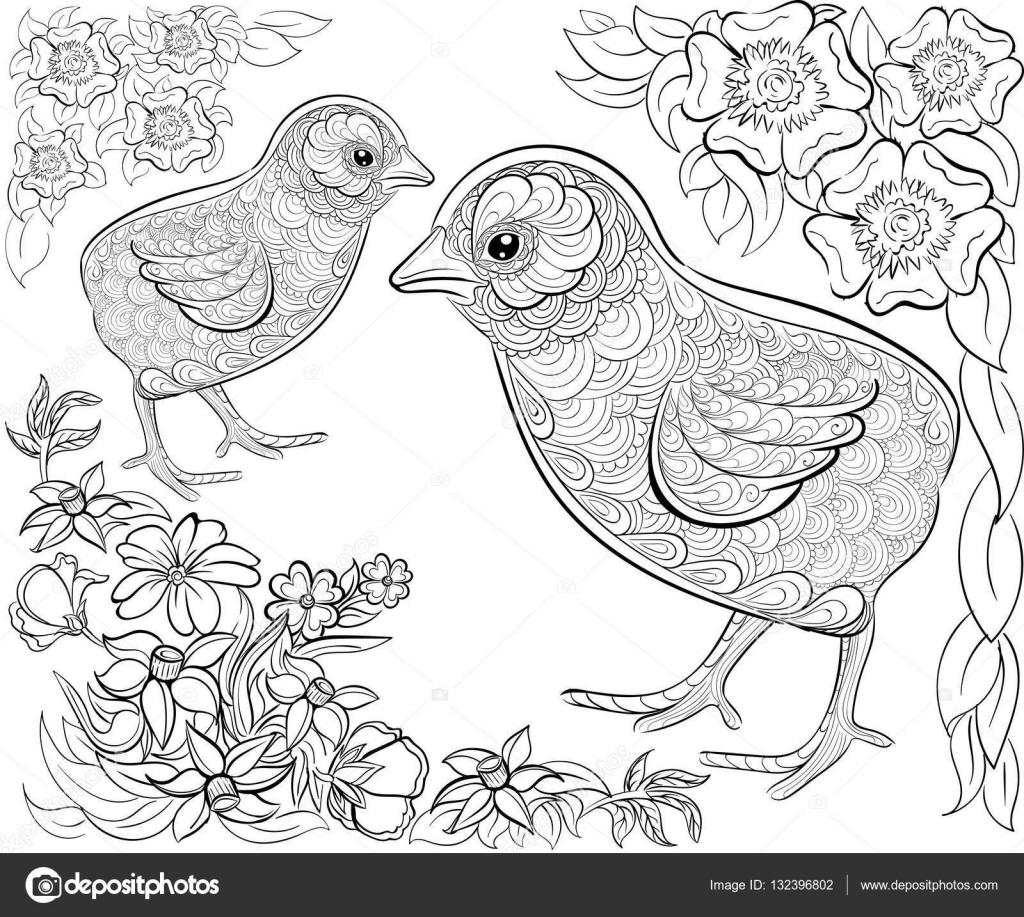 Hand Getekende Inkt Patroon Kleurplaat Boek Voor Volwassen Vrolijk