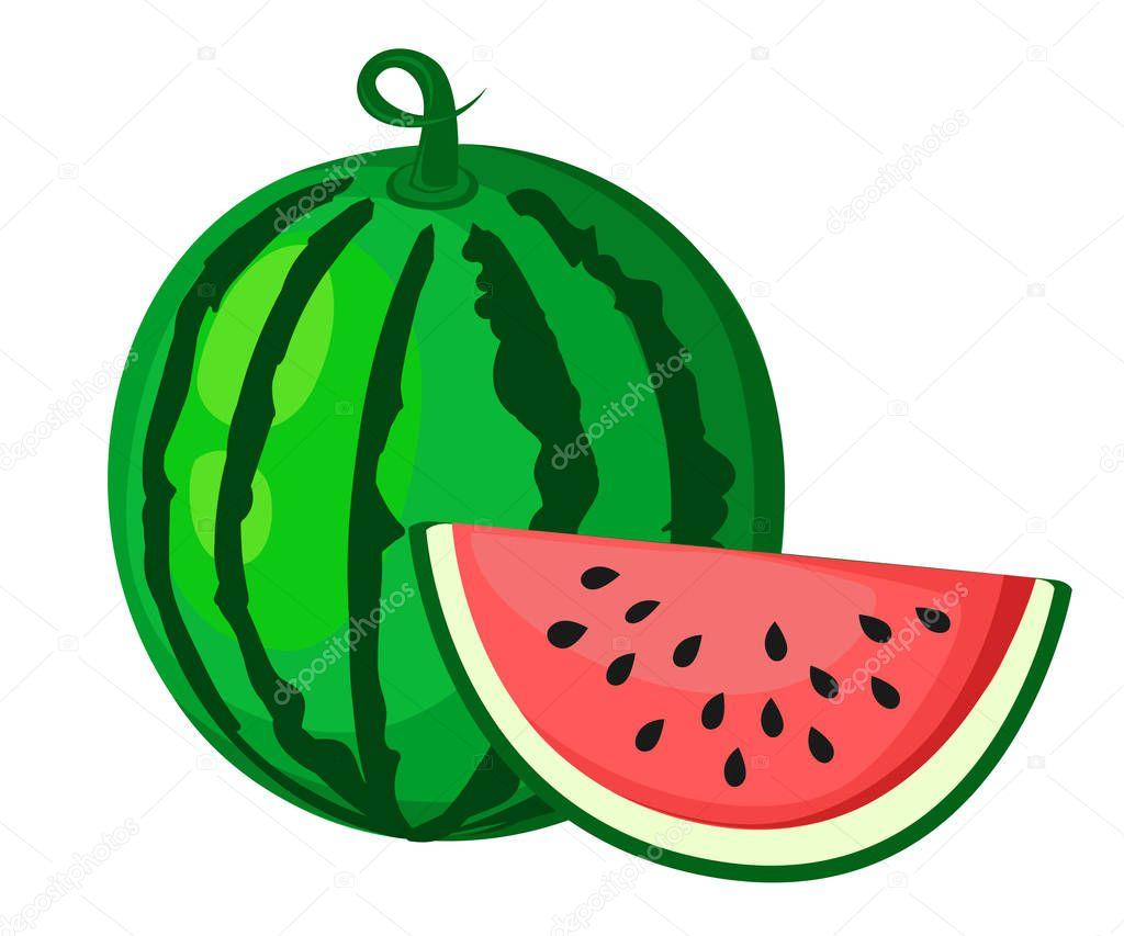 Anguria Sugosa Estate Frutta E Una Fetta Di Anguria