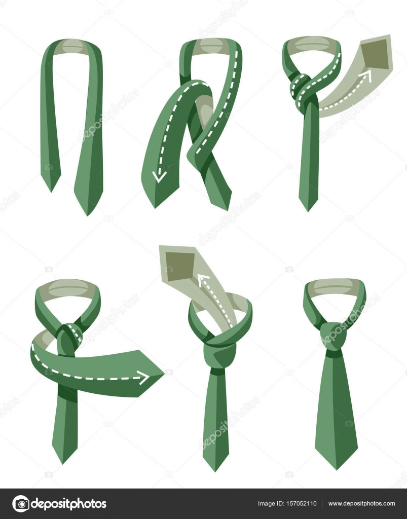 How to tie a tie on the turquoise background of the steps vector how to tie a tie on the turquoise background of the steps vector illustration ccuart Image collections