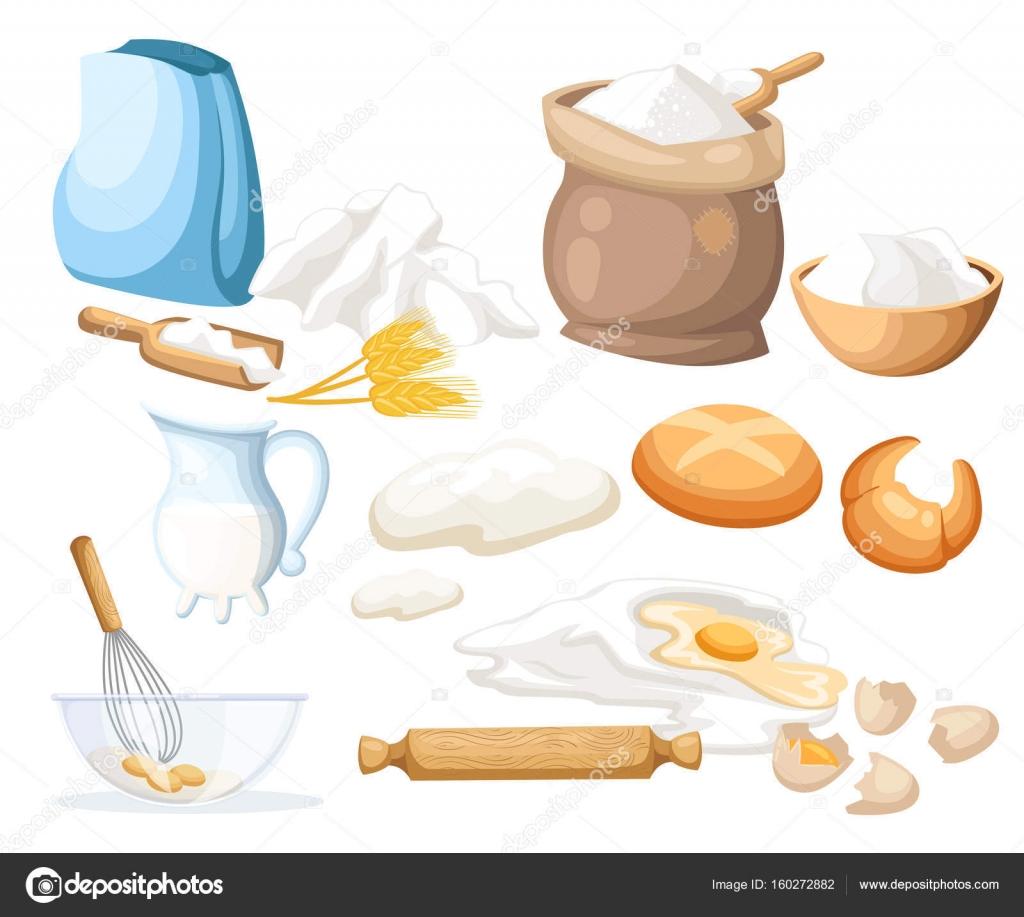 Kochen Und Backen App kochen vektor illustration küchenutensilien essen zucker salz mehl