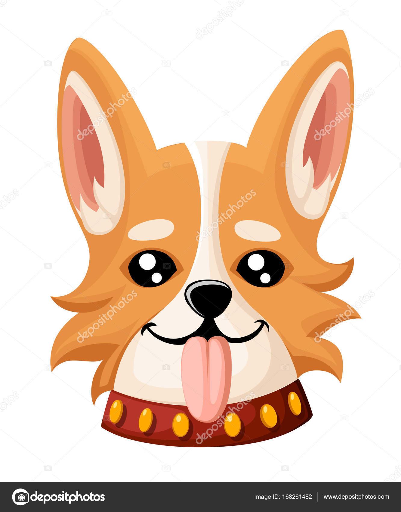 かわいい犬コーギーのベクター イラストです グリーティング カードの