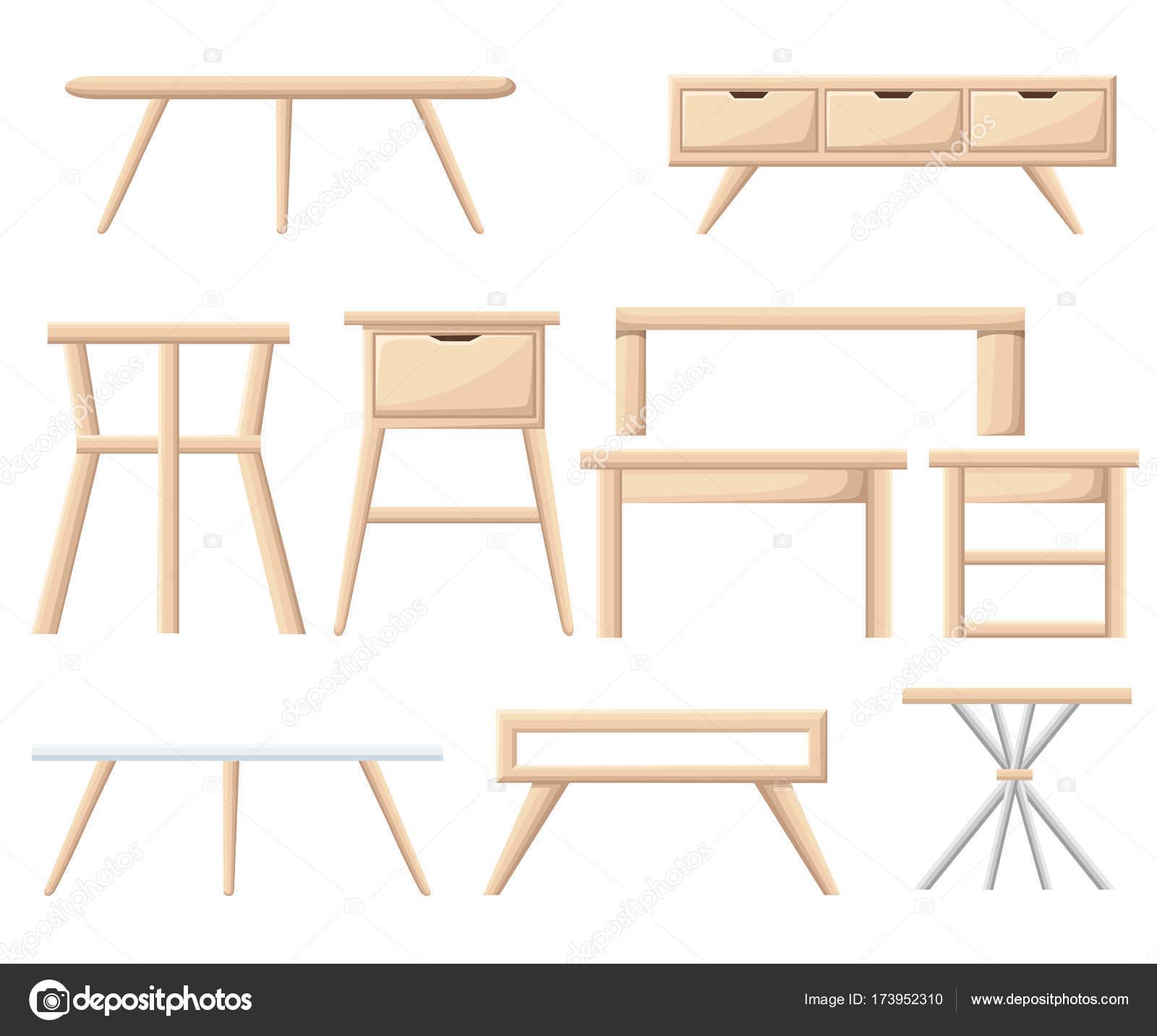 Conjunto Mobiliario Interiores Muebles Del Dormitorio Mesita Mesita ...