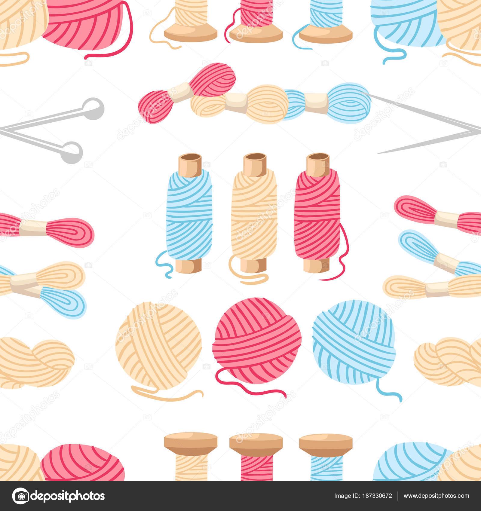 De patrones sin fisuras. Hilos para coser de Cruz costura conjunto ...