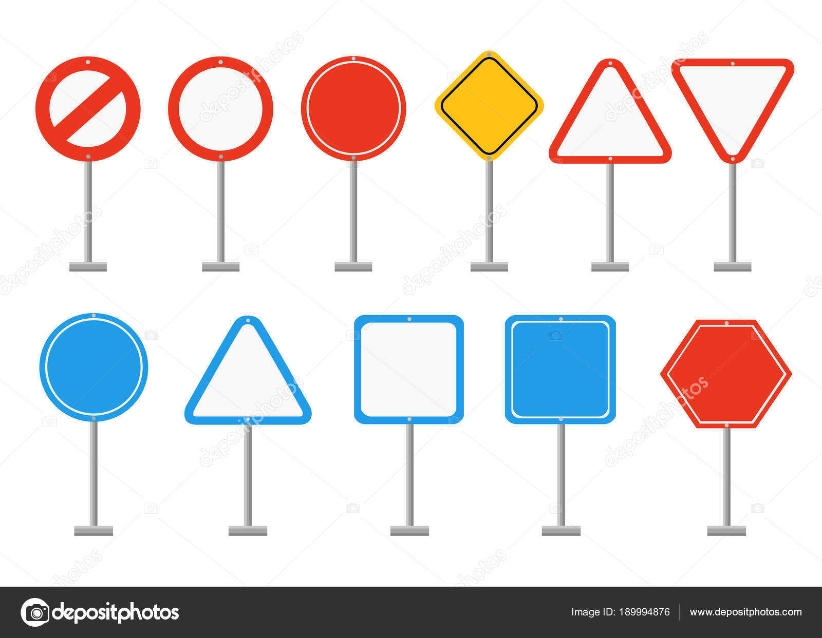 set of road signs road signs with empty space place for your