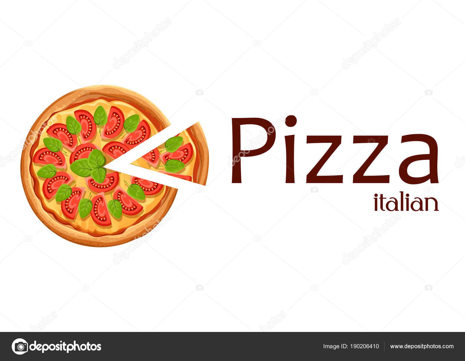 con slice. Pizza Margarita con tomate, queso y orégano. Cartel de ...