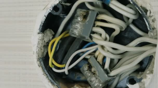 Astonishing Close Up View Of Burnt Wires In Electrical Junction Box On The Wall Wiring 101 Orsalhahutechinfo