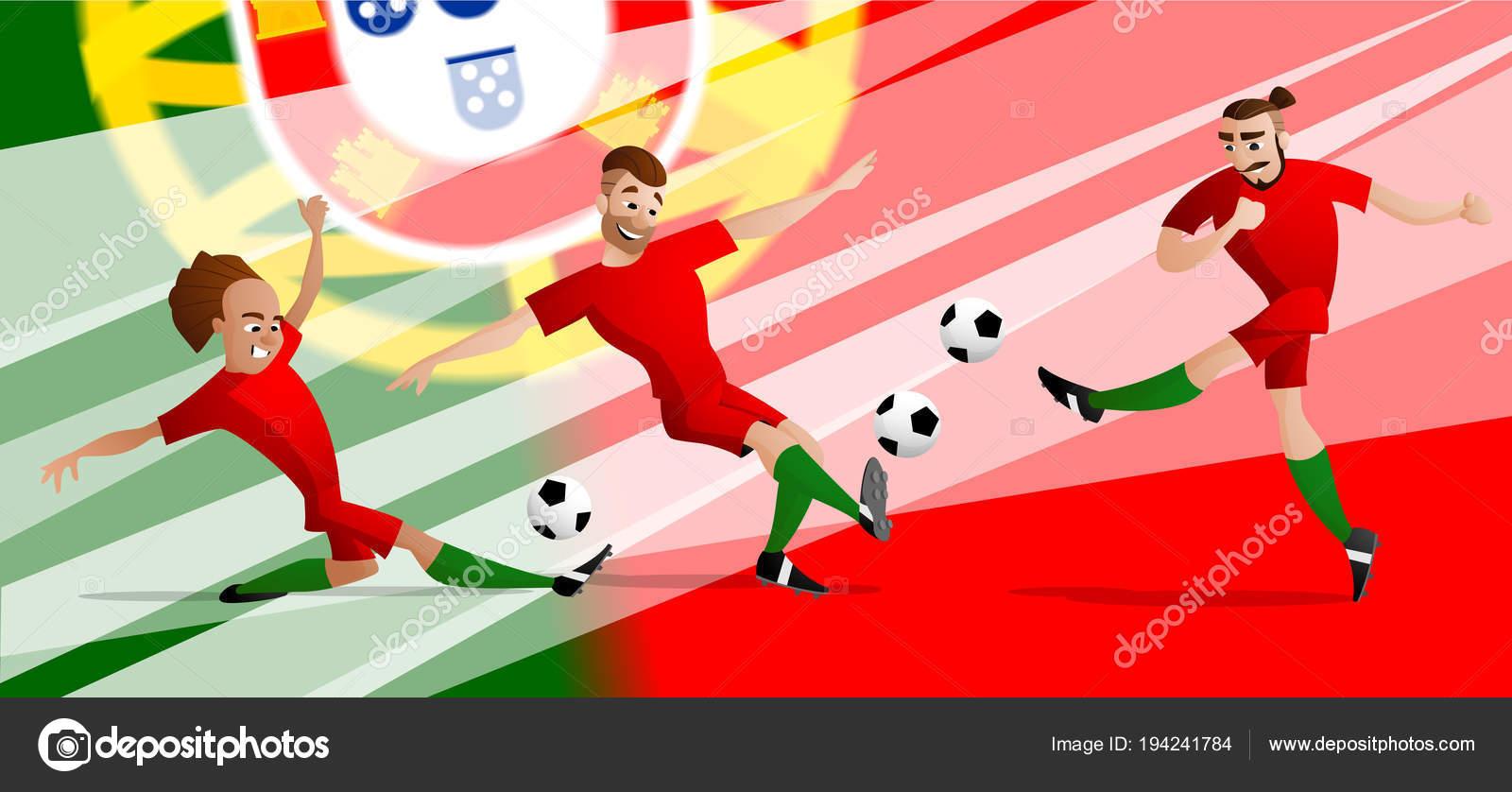 L Equipe De Joueurs De Football De Football Portugal Mis A Taper