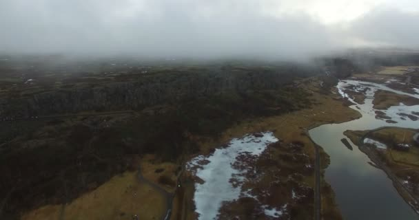 Aerial flight over beautiful landscapes