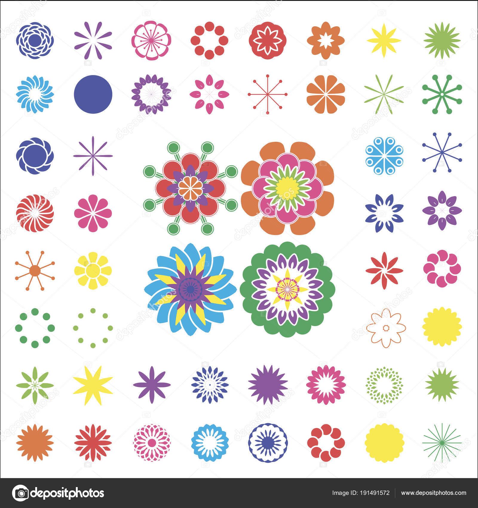 Der Designer der Farben. Von einfachen Elementen setzen, floralen ...