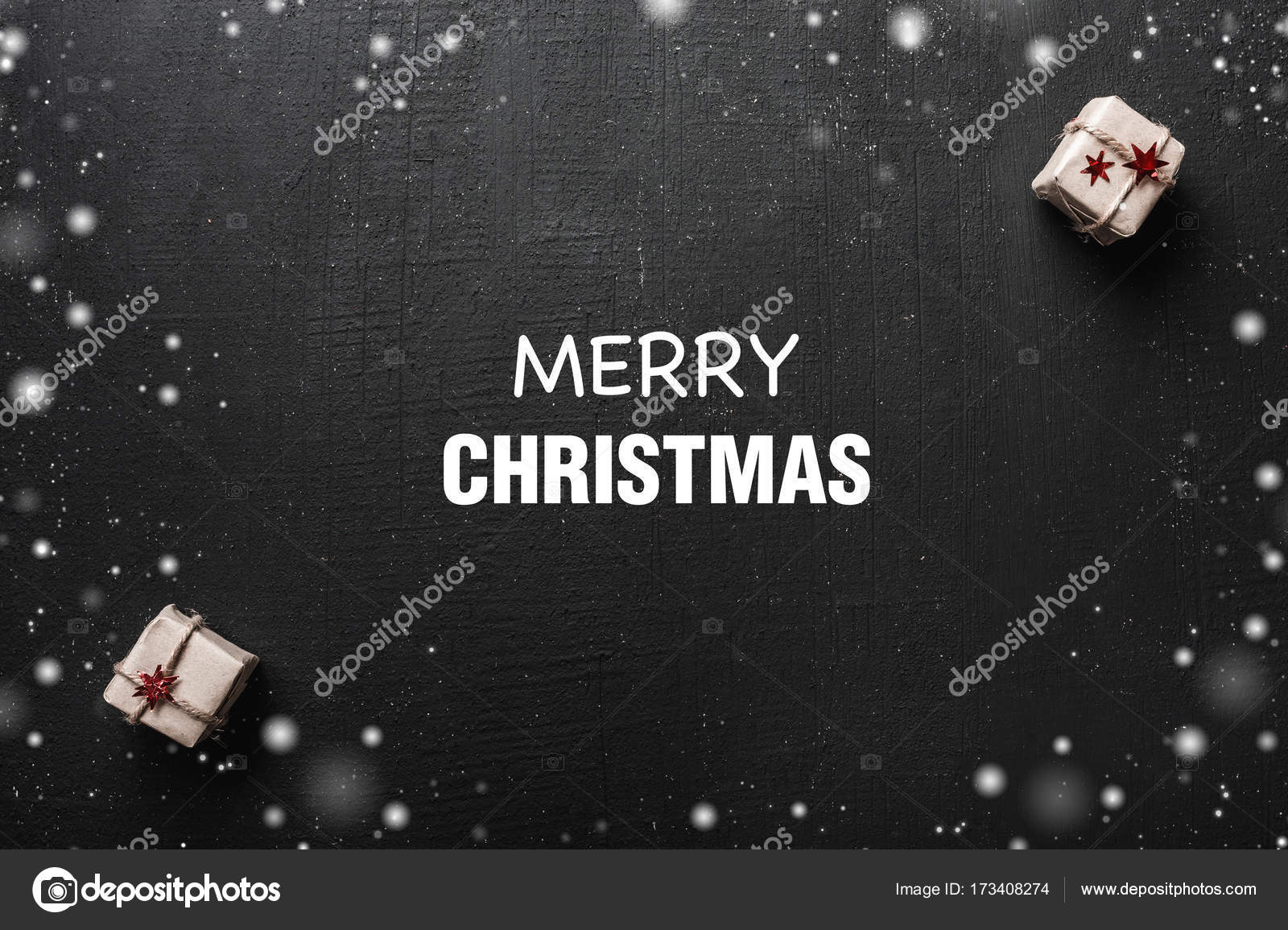 Christmas Card With Space For A Greeting Message For Loved Ones And