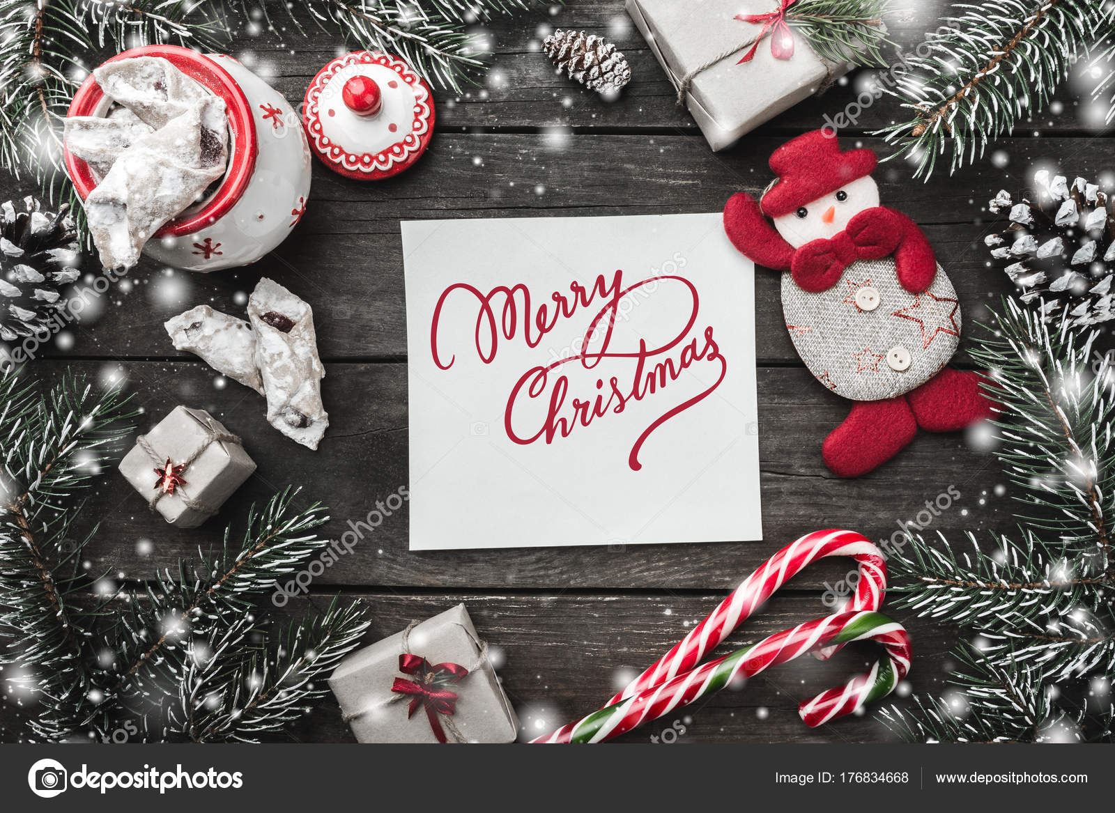 xmas motivational theme paper merry christmas signl red bow fir