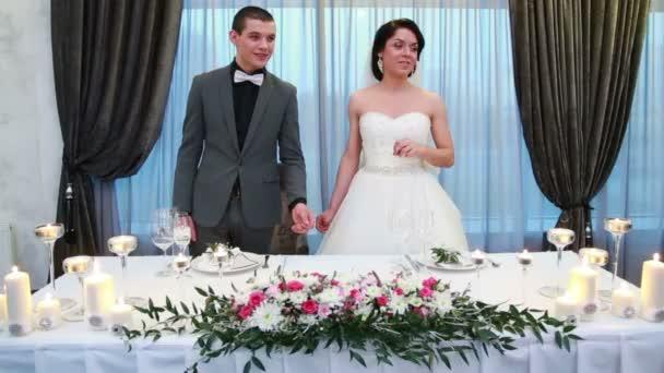 Sposa e sposo al matrimonio recieption