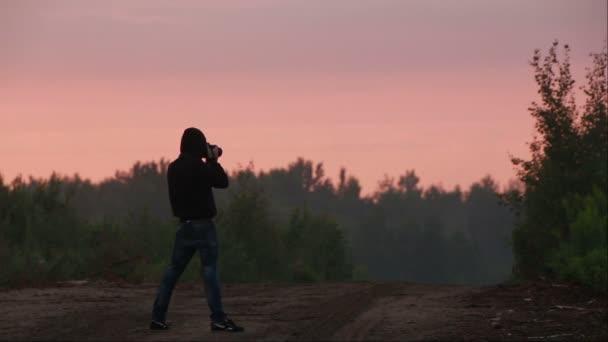 silueta fotograf fotografování