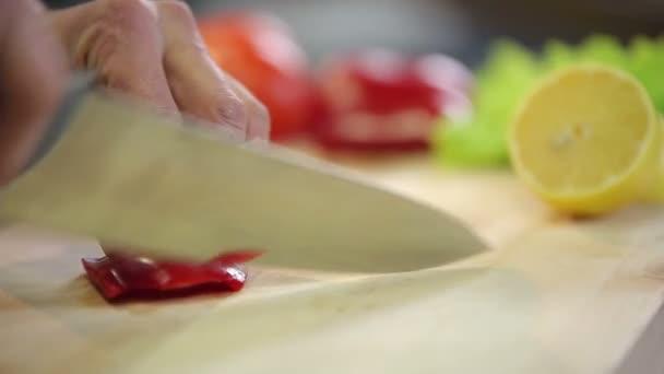 nůž kotlety červené papriky