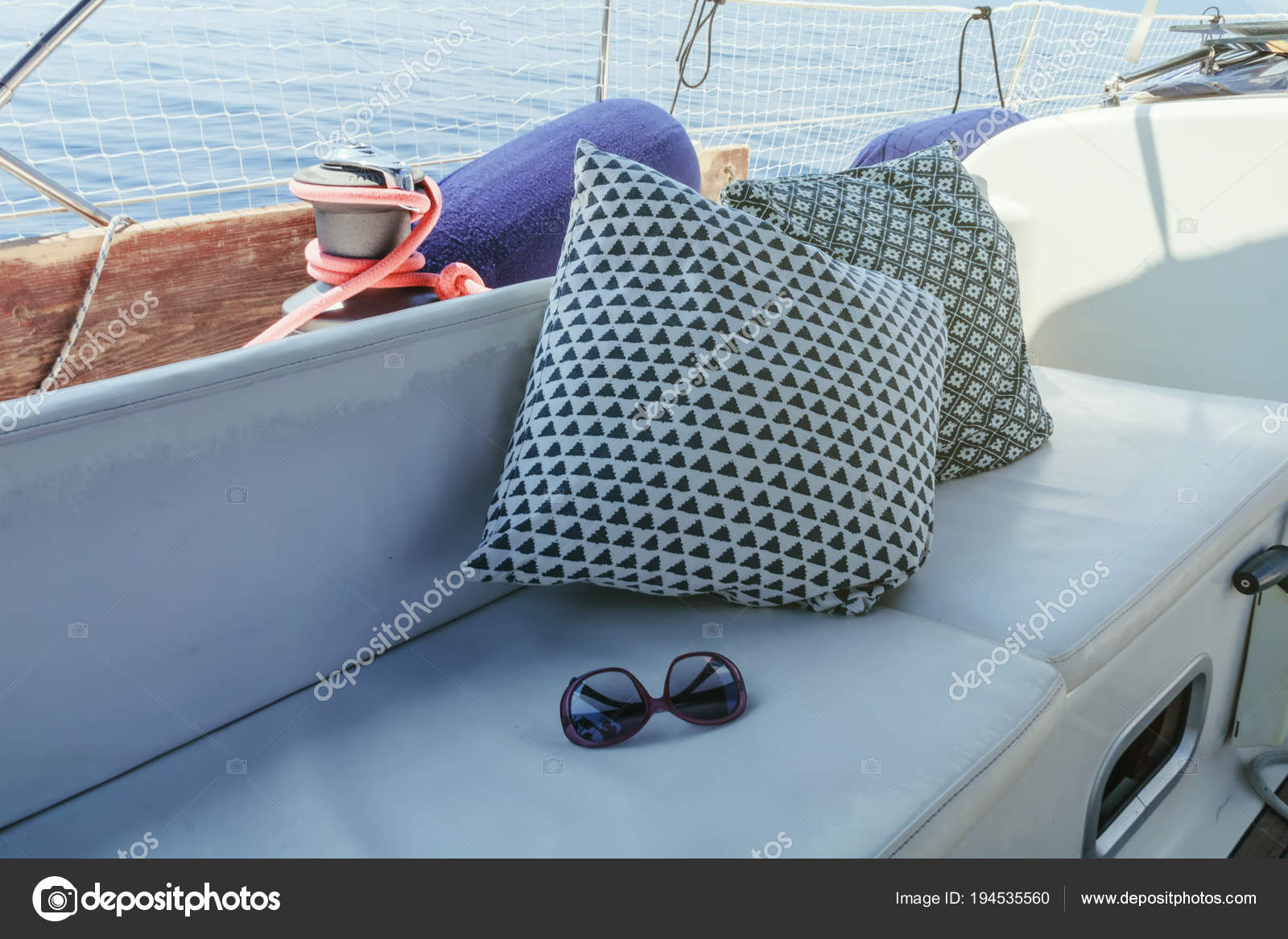 Boat Exterior Sitting Area Interior Sailing Yacht Boat