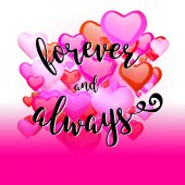 Forever and Always Quote on Rising Hearts