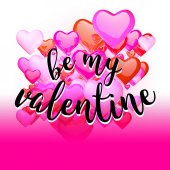 Be my Valantine Quote on Red Rising Hearts