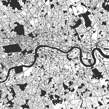 London Monochrome Map Artprint