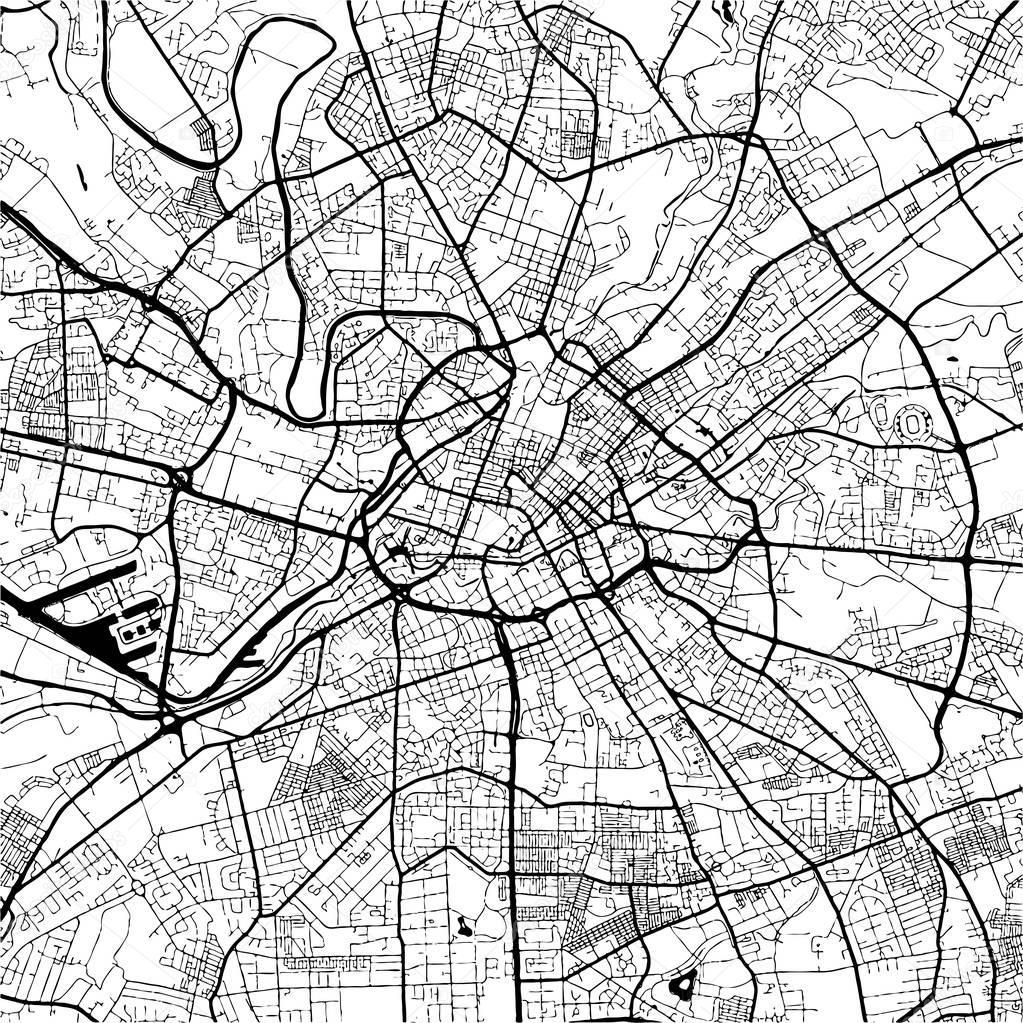 karta manchester england Manchester, England, svartvit karta Artprint — Stock Vektor © mail  karta manchester england
