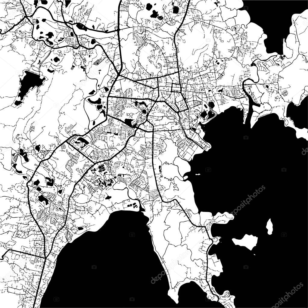 phuket thailand monochrome map artprint stock vector mail Phuket Tahiti phuket thailand monochrome map artprint vector outline version ready for color change separated on white vector by mail hebstreit