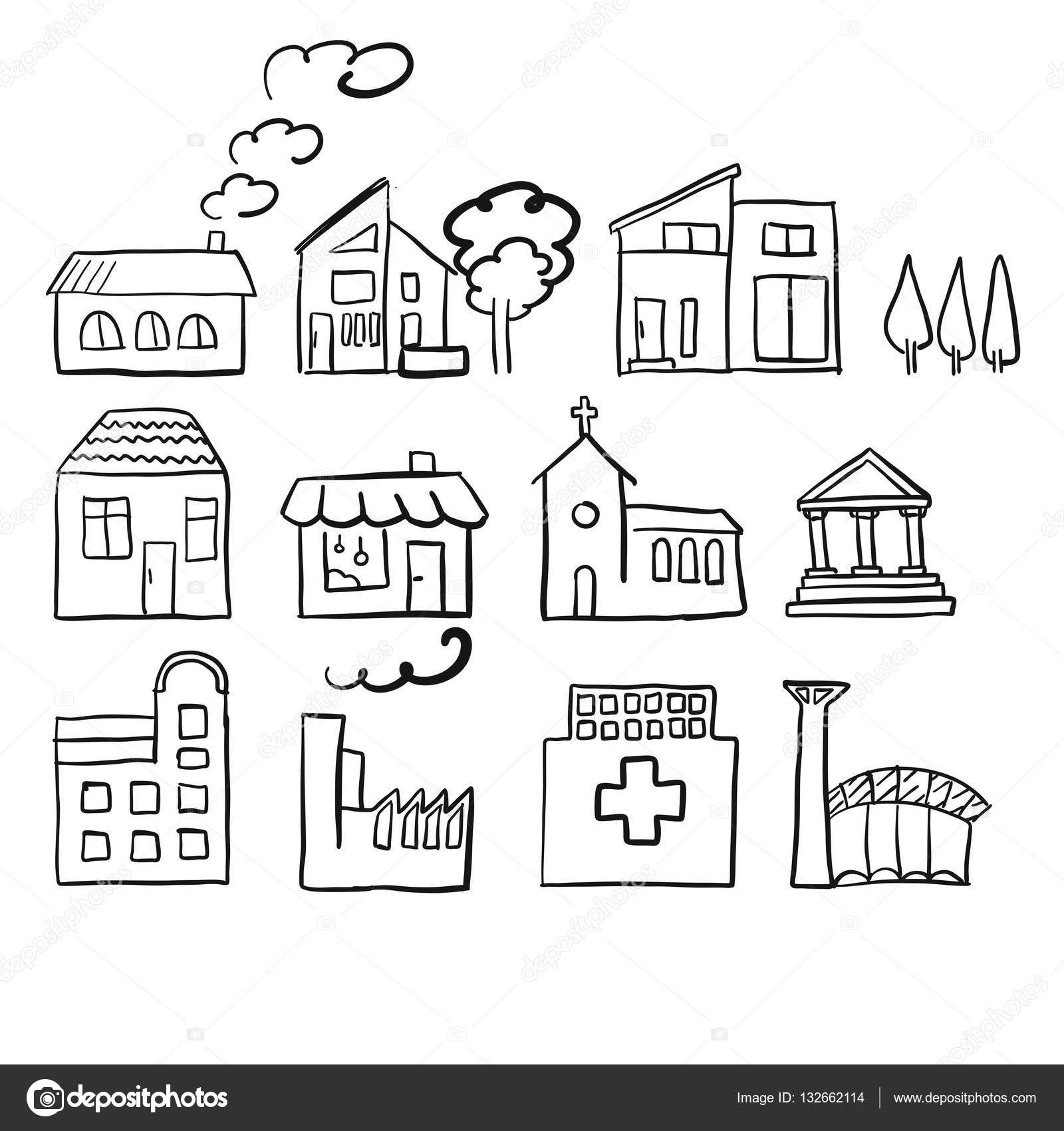 Various house types fast vector sketch stock vector mail various house types fast vector sketch stock vector ccuart Gallery