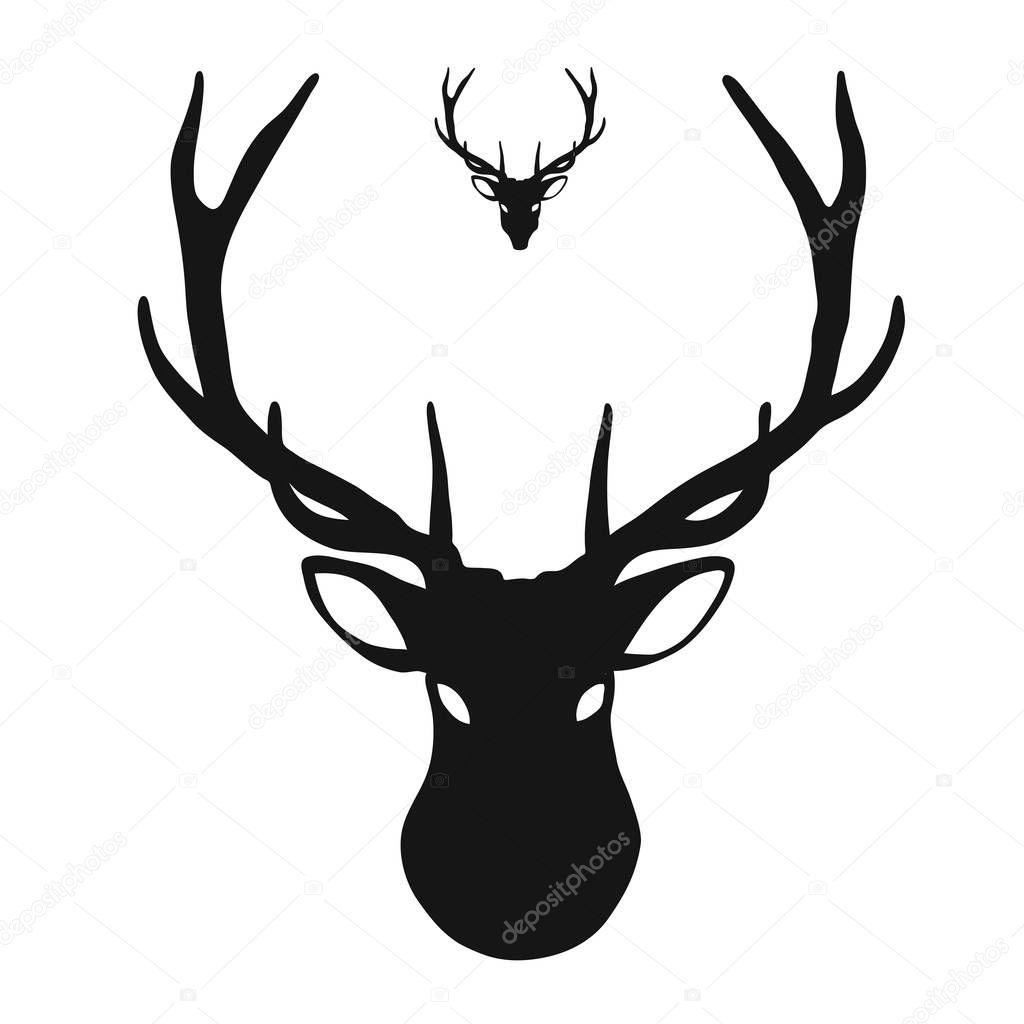icône tête de cerf — image vectorielle mailhebstreit
