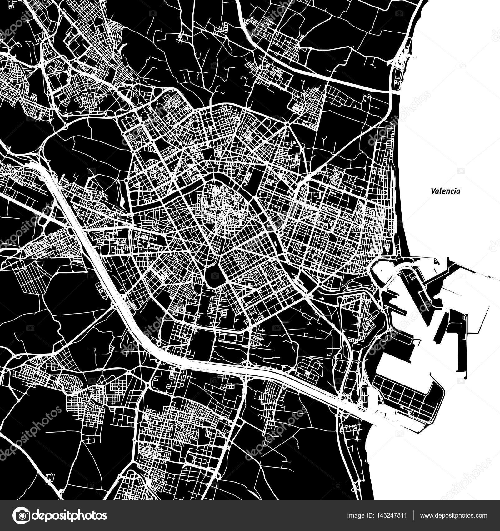 Vector Valencia Image Valencia Vector Map Stock Vector C Mail