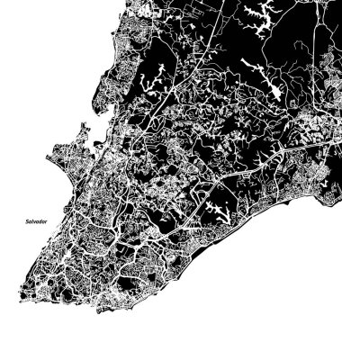 Salvador One Color Map