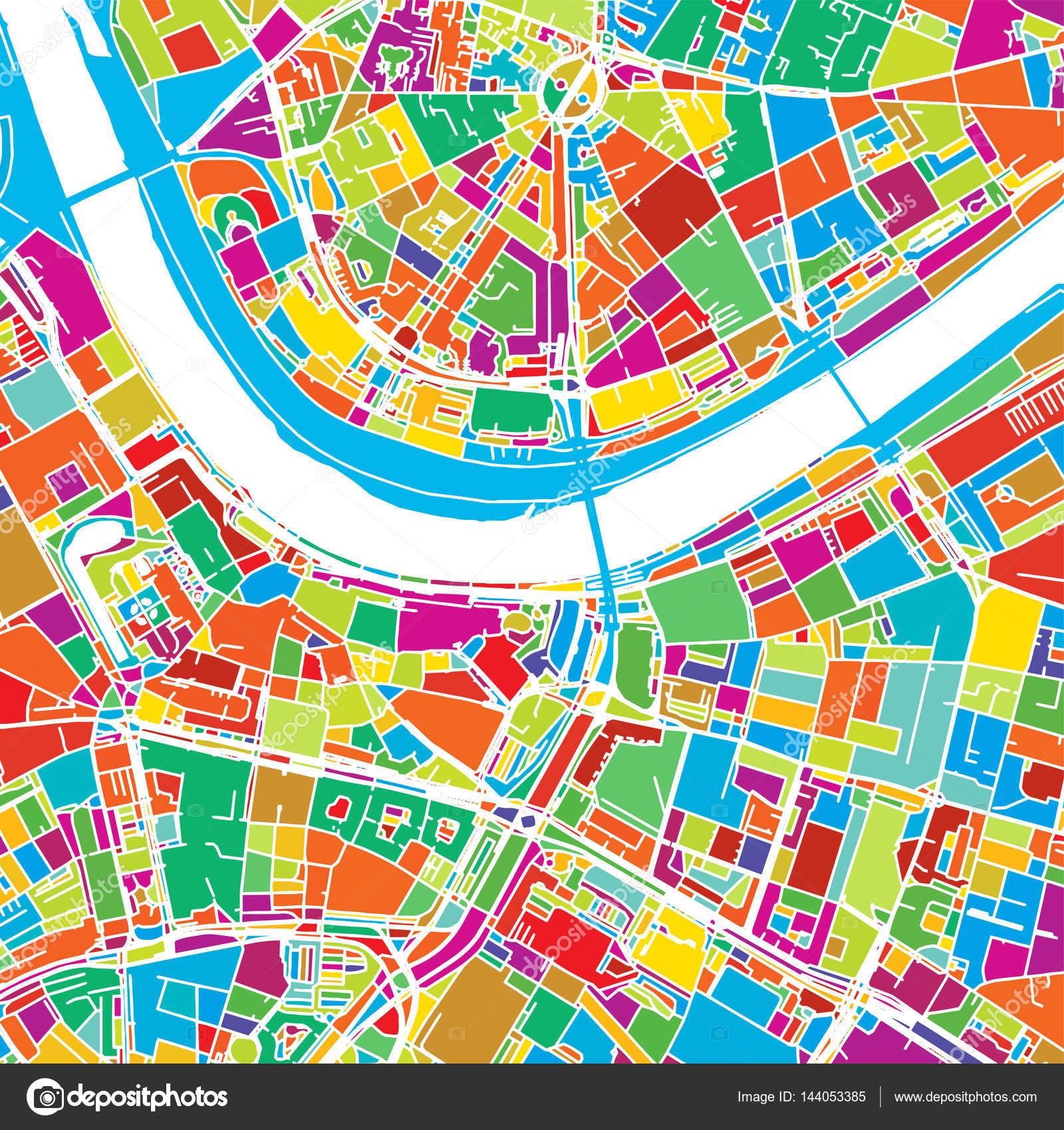 tyskland karta dresden Dresden, Tyskland, färgglada Vector karta — Stock Vektor © mail  tyskland karta dresden