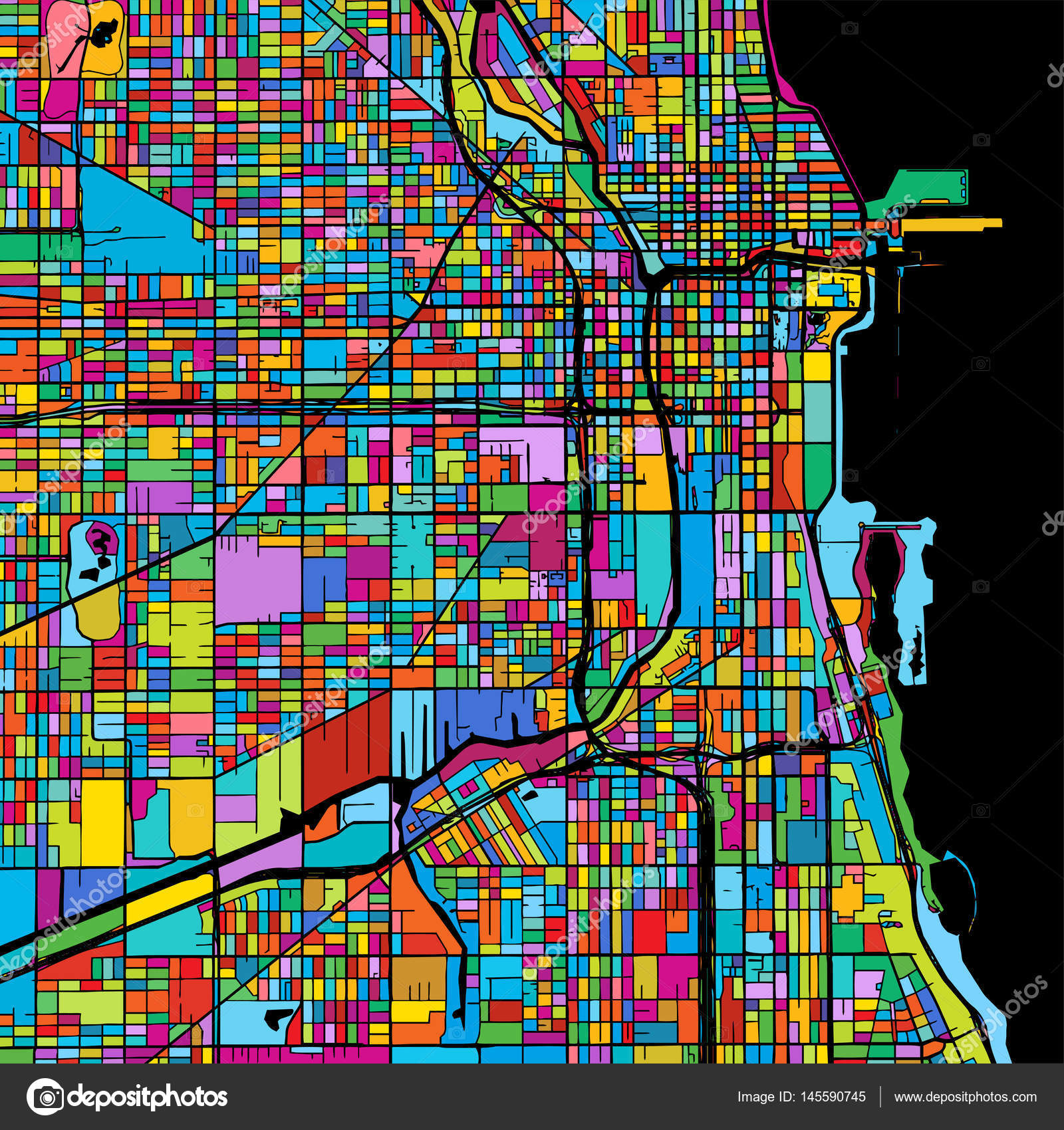 Vector: chicago map | Chicago, USA, Colorful Vector Map on ... on puerto rico in chicago, money in chicago, bike in chicago, ball in chicago, weather in chicago, usa map in miami, statue of liberty in chicago, animals in chicago, butterflies in chicago, transportation in chicago, nebraska in chicago, home in chicago, turkey in chicago, zip code map in chicago,