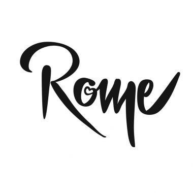 Rome Calligraphic Lettering