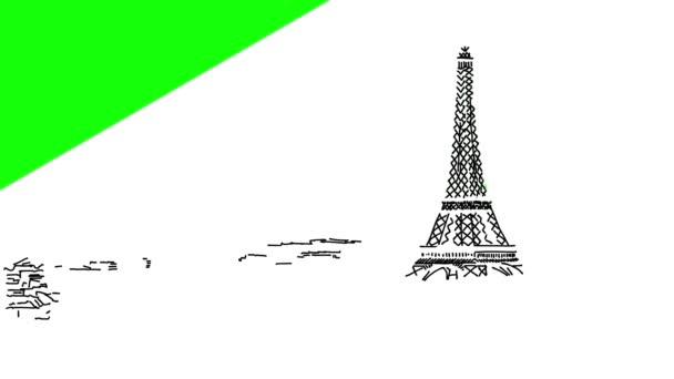 Paris Skyline Animation